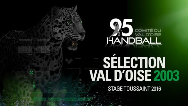 SELECTION VAL D'OISE (2003) Stage Toussaint 2016 du 31/10 au 02/11