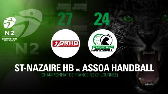 CHAMPIONNAT DE FRANCE N2 : St-Nazaire HB 27 – 24 ASSOA Handball