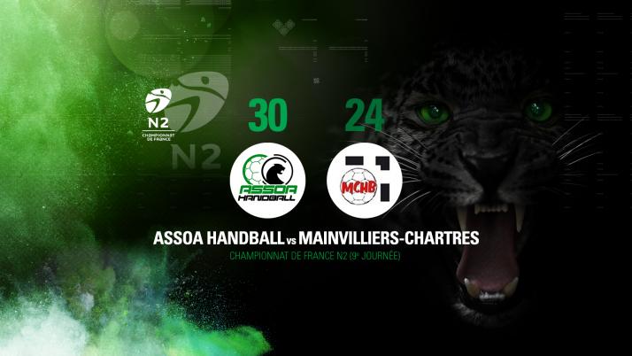 Championnat de France N2 : ASSOA Handball 30 – 24 Mainvilliers-Chartres