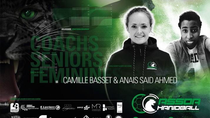 À LA RENCONTRE DE… Camille Basset et Anaïs Said Ahmed, coachs de notre équipe sénior féminine